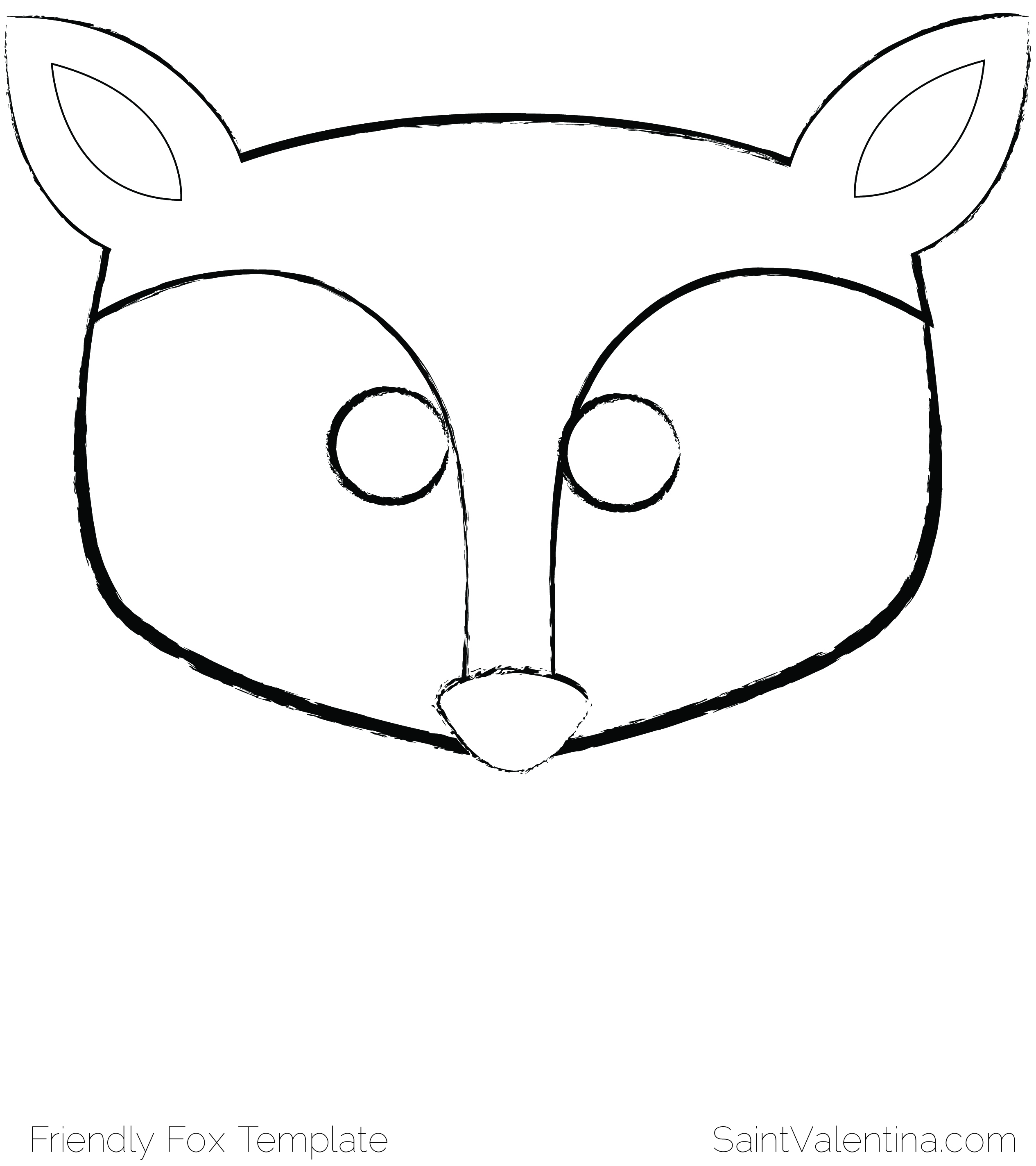 template of a fox - wolf mask template search results calendar 2015